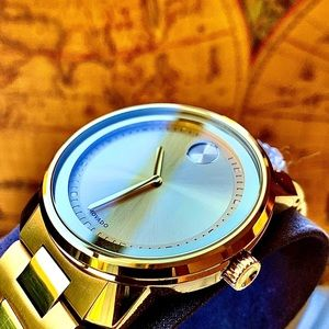 Movado Accessories - Movado Bold Champagne Dial Gold Plated Men's Watch